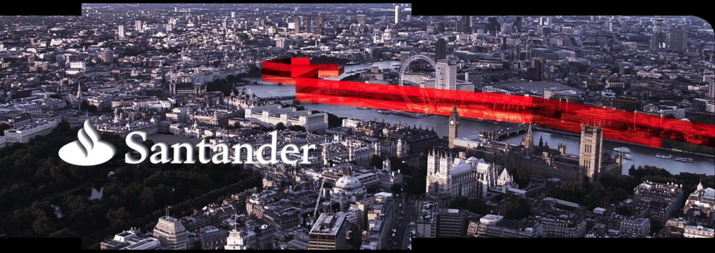 Investor Day banco santander motion vfx mapping visual loop